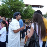 Chile. Volunteers from NA Talca (Chile) evoke Greek philosophers in the city streets.