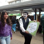 Chile. NA volunteers promote philosophy in the streets of Temuco (Chile) for World Philosophy Day.