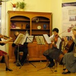 "Hungary. Chamber music concert at NA Budapest's ""Hunyadi"" Center, for World Philosophy Day."