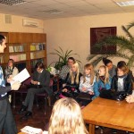 Ukraine. NA leads a talk at the National University of Donetsk (Ukraine) for World Philosophy Day.
