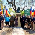 Chile. World Philosophy Day. Unveiling in Bustamante Park in Santiago de Chile of a Giordano Bruno statue offered by NA; attended by the mayor and local authorities.