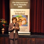 "Spain. For World Philosophy Day, NA's International Director, Delia Steinberg Guzmán, gives a lecture entitled ""The Alchemy of Happiness"" at NA Madrid."