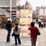 La Paz (Bolivia). On World Philosophy Day instituted by UNESCO, New Acropolis volunteers set up a display of philosophical panels in several squares around the city.