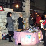 Zadar (Croatia). Information Stand in one of the town's squares, dedicated to World Philosophy Day.