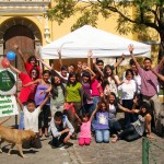 World Philosophy Day celebration at a park in Antigua Guatemala.